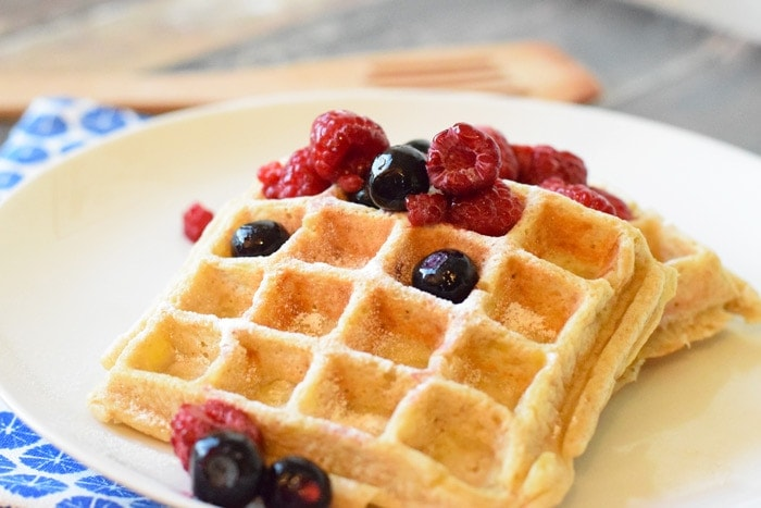 how to make healthy waffles without a waffle maker