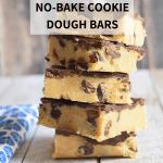 gluten-free no-bake cookie dough bars