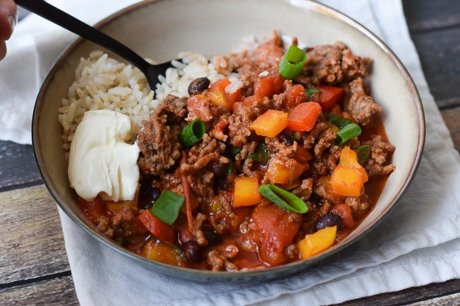 het chili con carne