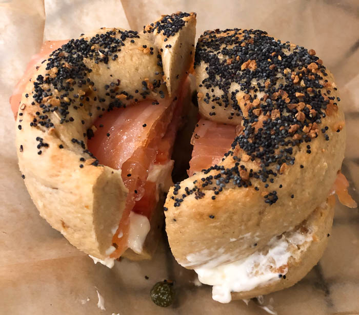 Eating low FODMAP and gluten-free in New York - Gluten-free bagel