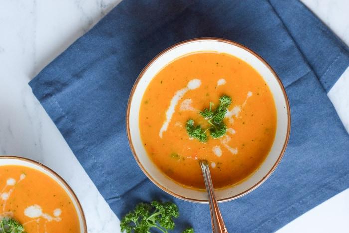 low fodmap courgette wortelsoep